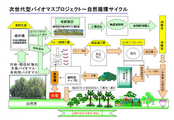 三井アール・ディーが提言する次世代型バイオマスプロジェクト概要図